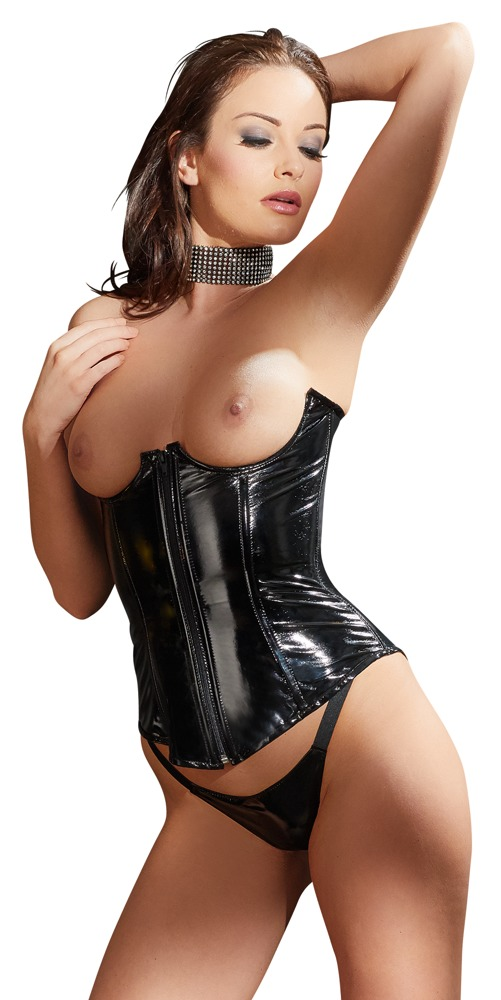 corset borstvrij Black Level | Lak Corsetten: Lak korset van Black level